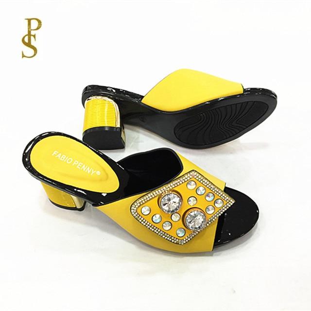 Zapatillas de mujer nigerianas con diamantes, zapatos de mujer