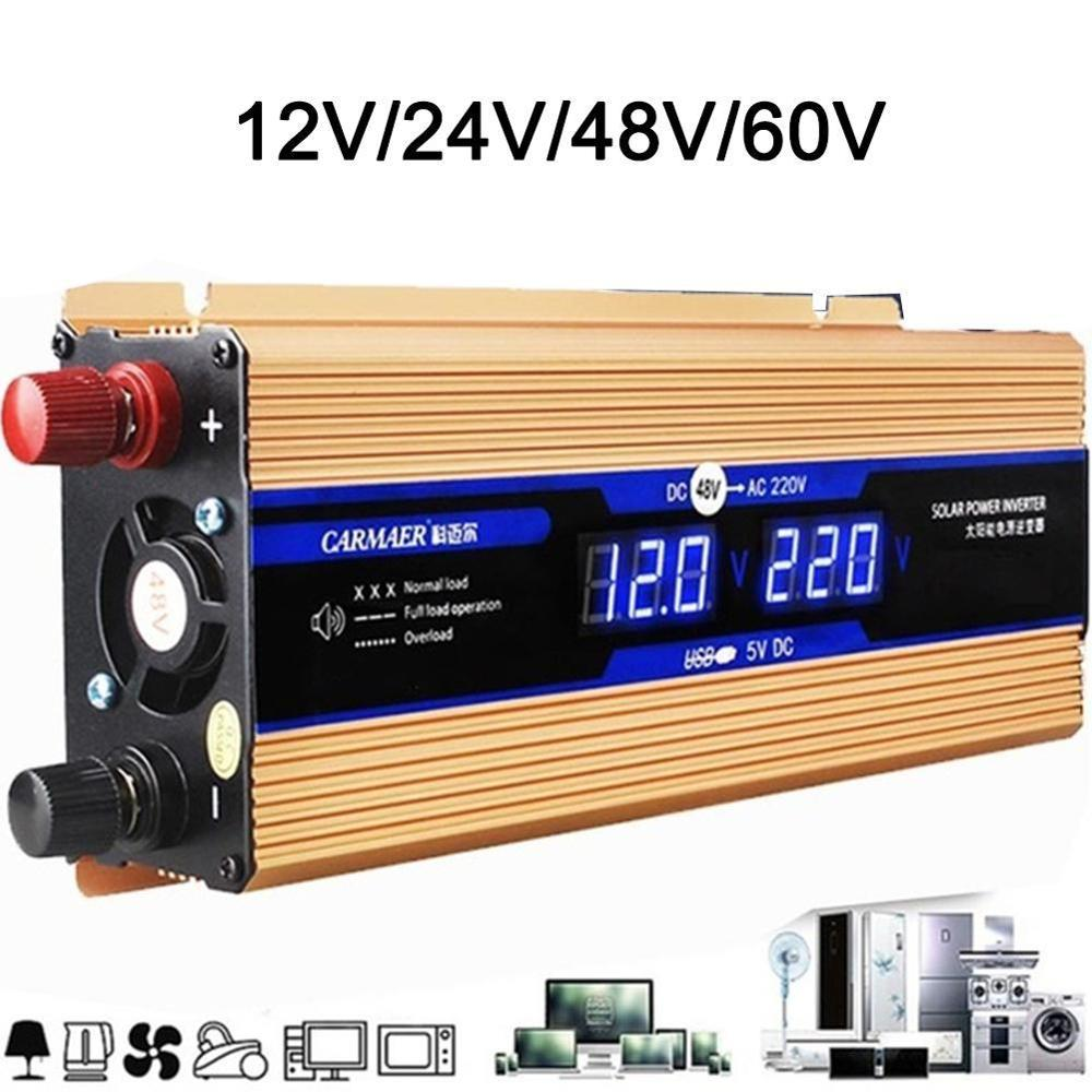 VFD Modified Sine Wave Inverter DC 12V / 24V To 220V Boost Step Up Converter Voltage Transformer Wave Mpp Solar Power Vehicle