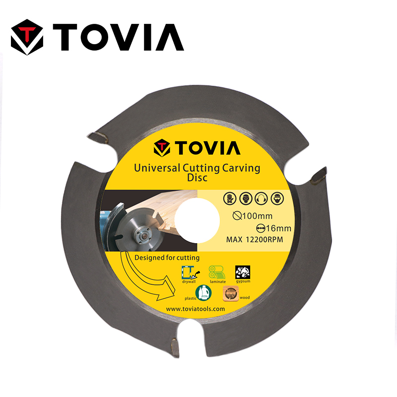 TOVIA 100mm Circular Saw Blade Carbide Cutting Wood Saw Disc For Angle Grinder Wood Cutter Saw Blade For Cutting Wood