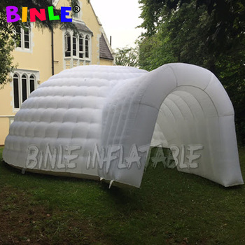 цена на Large white led party inflatable igloo dome inflatable construction air dome waterproof tent for outdoor camping