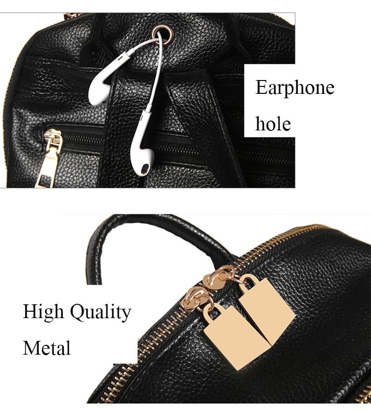 Hc0bc336eec26416bada76cc0e8db3581I Luxury Famous Brand Designer Women PU Leather Backpack Female Casual Shoulders Bag Teenager School Bag Fashion Women's Bags