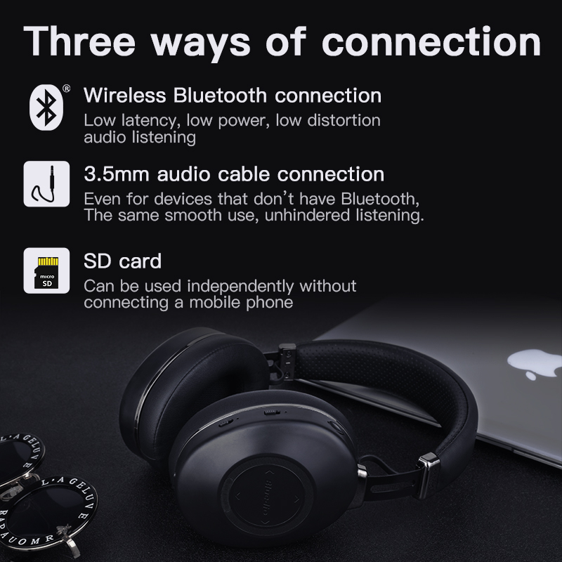 cheapest Bluedio H2 Bluetooth Headphones ANC Wireless Headset HIFI sound Step Counting SD Card Slot Cloud Function Smart APP