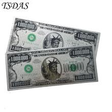 24k złoty banknot US 1 milion dolarów pamiątkowe srebrne banknoty (jednostronnie) sprzedaży tanie tanio TSDAS CN (pochodzenie) Patriotyzmu Metal Europa fake banknotes souvenir banknotes 24k gold banknote gold foil banknote