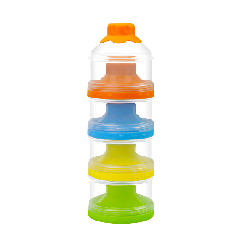 Milk Box Portable Nursing Sealed Large Capacity Mini Four Layer Milk Container Infant Partition Baby Packing Rice Powder Box