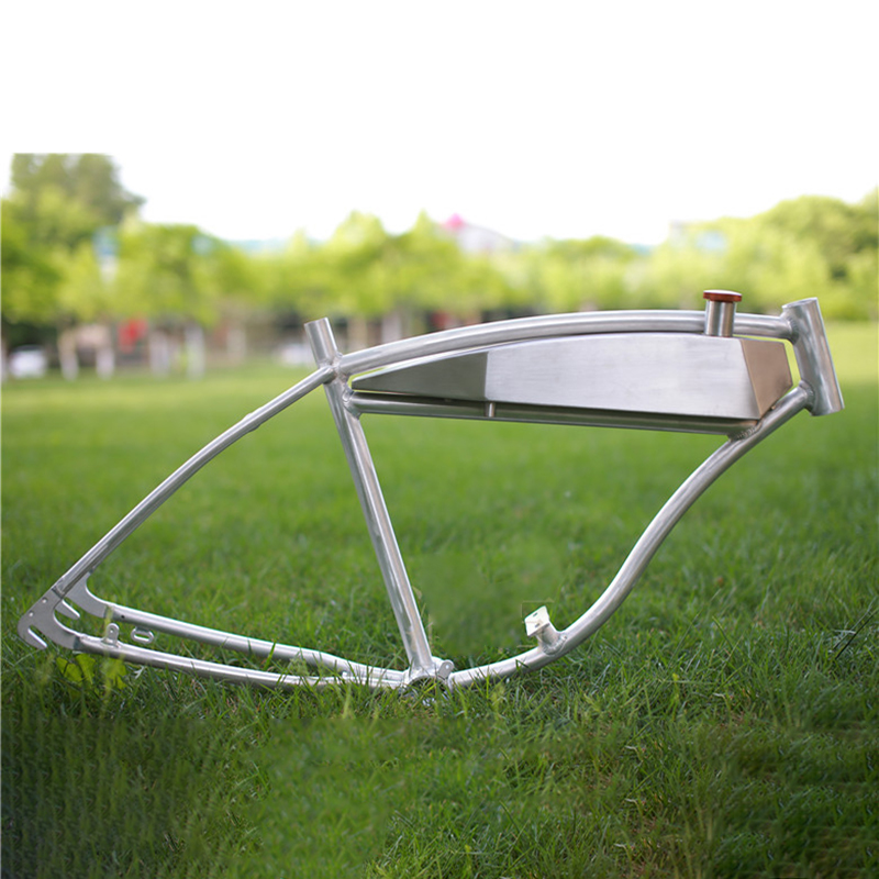 26inch Fuel Tank Aluminum Alloy Fuel Booster Bike Frame Integral Fuel Tank Fork  American Fuel Bicycle  Frame