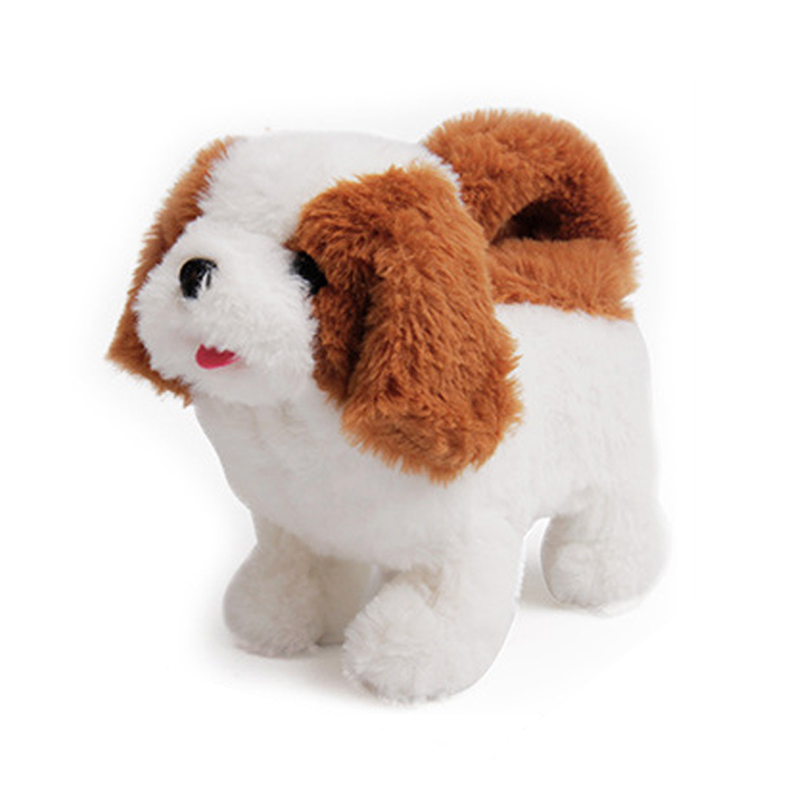 New Sound Control Electronic Dogs Interactive Electronic Pets Robot Dog Bark Walk Simulation Soft Plush Toys For Kids Baby Gifts