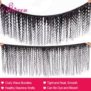Image 2 - Shireen Haar Produkte Malaysische Verworrenes Lockiges Haar Mit Verschluss Remy Haar Weben 3 Bundles Menschliches Haar Bundles Mit Spitze Verschluss