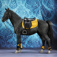 1/6 32cm Germany Hannover Warm Blooded Model Simulation Horse Decoration Model Educational Toy Gift For Kid Adult Black Maroon