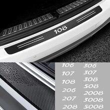 Задняя часть автомобиля багажника из углеродного волокна декоративный элемент для бампера Защита наклейки для Peugeot 206 207 208 306 307 308 407 408 508 2008