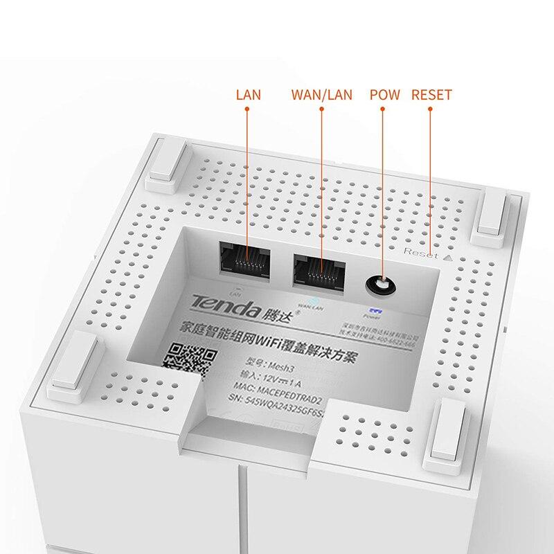 Système WiFi sans fil Tenda Nova MW6 pour toute la maison 11AC 2.4G/5GHz répéteur de gamme de routeur sans fil APP gérer jusqu'à 6,000 pieds carrés - 6