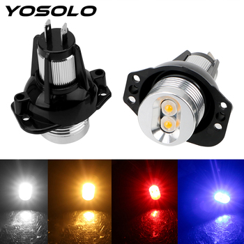 YOSOLO 2pcs LED Angel Eyes Marker Light Bulbs Error Free Car Lamps Auto Fog Lamp DC 12V for BMW E90 E91 900lm Decorative Lights image