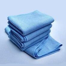 1pc cuidado automático o melhor ímã de água microfibra toalha de secagem ultra absorvente pano de microfibra waffle tecer pano 80x60cm