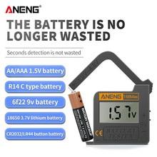 Aneng 168max батарея тест er универсальный аккумулятор Емкость Checker для Aa Aaa 9v 1,5 v Кнопка батарея тест состояние черный