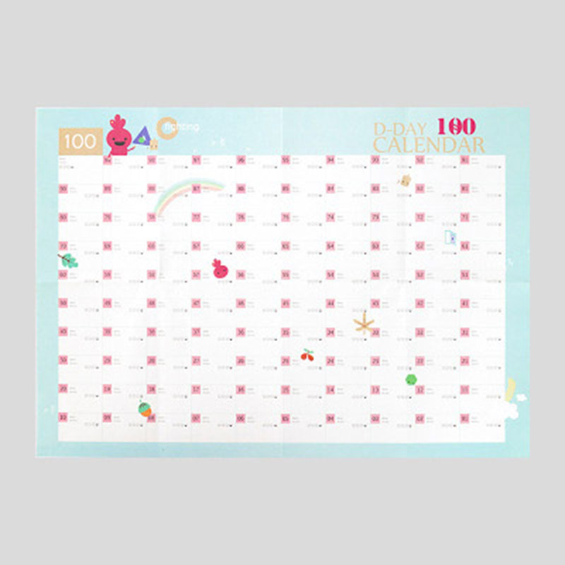 100 Days Planner Paper Wall Calendar Office School Daily Planner Notes Schedule Daily Memos Timetable Notebook Yearly Agenda