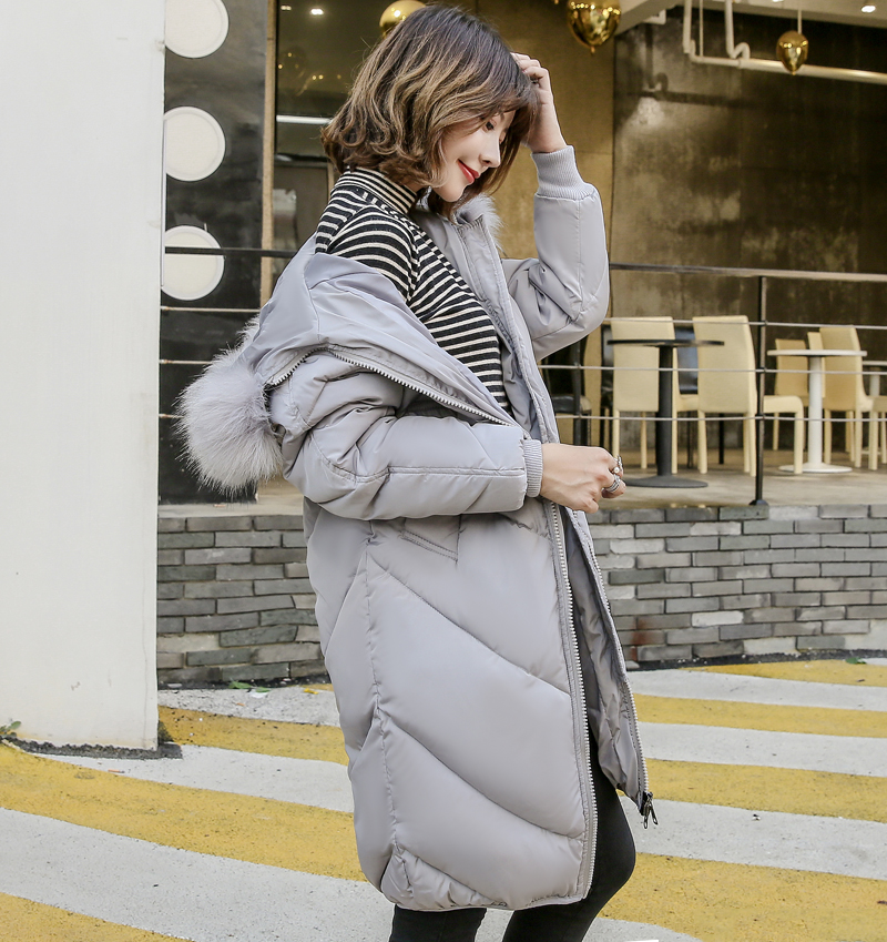 2019 High Quality Winter Jacket Women Hooded Fur Collar Warm Thicken F_B0_11