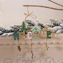 2019 new Year DIY Christmas Tree Decoration Xmas Welcome Wording Signs Wooden Crafts Hanging Ornament for Home Door Window Wall