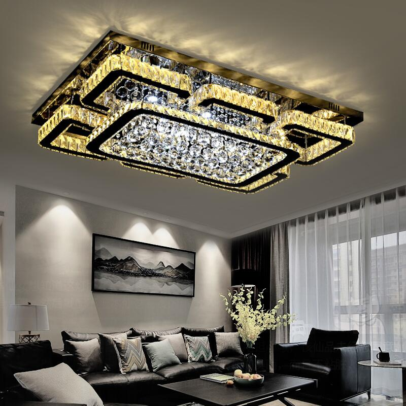 2019 New Crystal Lamp Living Room Lamp Headlights Led Ceiling Lamp Simple Modern Atmosphere Home Bedroom Lamps