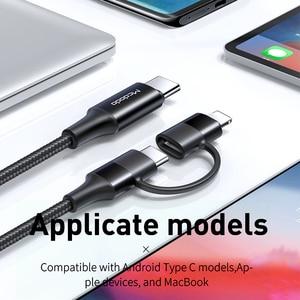 Image 2 - Mcdodo 60W USB 유형 C 케이블 USB C PD IPhone Xs Max XR X IPad Pro Macbook 화웨이 삼성 2 In 1 충전기