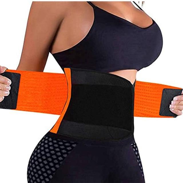 In Stock ! Adjustable Waist Back Support Waist Trainer Trimmer Belt Sweat Utility Belt for Sport Gym Fitness Weightlifting LWT 2