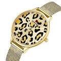 Роскошные женские кварцевые часы с леопардовым узором  креативные женские наручные часы из нержавеющей стали  новинка 2019