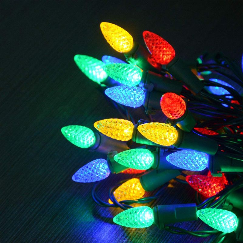 50 LED Battery Operated String Lights Christmas Decor 16.7Ft Strawberry Lights