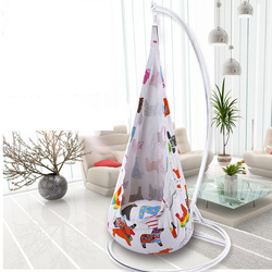أرجوحة أرجوحة محمولة للأطفال قابلة للنفخ للأطفال في الأماكن المغلقة وفي الهواء الطلق حديقة الحيوان/المهر تصميم ملون اللون