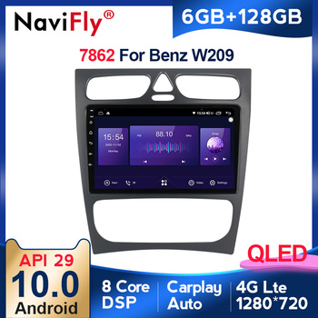 Android 6+128G QLED For Mercedes Benz W209 W203 W168 M ML W463 Viano W639 car Multimedia Player Navigation GPS Stereo Autoradio image