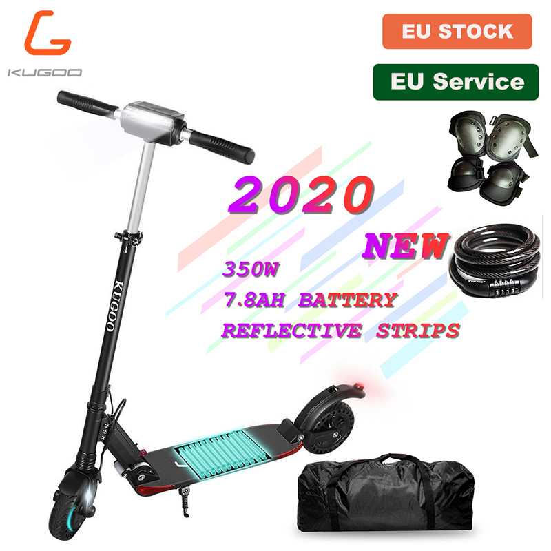 [Europe Stock] KUGOO S1 PRO Adult Scooter Folding Electric 350W 30KM/H 25KM/H LCD Display 3 Speed Modes Large Standing Platform