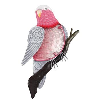 Metal Parrot Bird Wall Artwork of Garden Decoration Outdoor Statues for Home Miniatures Accessories Sculptures