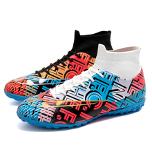 Football Boots Outdoor Sport Sneakers Men High Top TF/FG Soccer Shoes Zapatillas Futbol Hombre Training Ankle Sock Botas Cleats