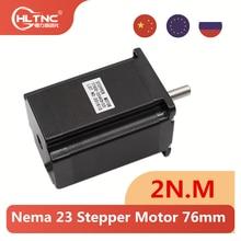 Motor deslizante de 283.22 ozin 2n m 76mm para impressora 3d cnc 57hs7630 1.8deg pl es ru nema23 motor deslizante 2 fase 4-lidera