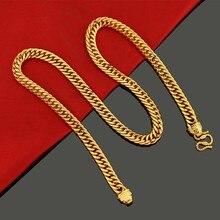 10mm de espessura pesado apertado colar duplo curb chain ouro amarelo cheio hip hop colar dos homens sólido jóias estilo clássico
