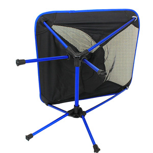 Image 5 - Free Shipping car Outdoor Stack Portable Foldable Stool Fishing Thickened Beach Camping Chair LOAD 145KG