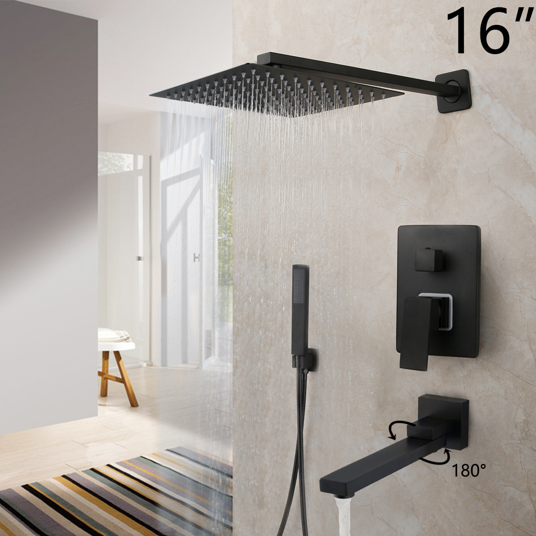 16 Inch Shower W2