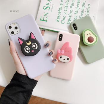 3D Cartoon Melody Soft phone case for iphone X XR XS 11 Pro Max 6 7 8 plus Holder cover for samsung S8 S9 S10 A50 Note 10 9 capa 1