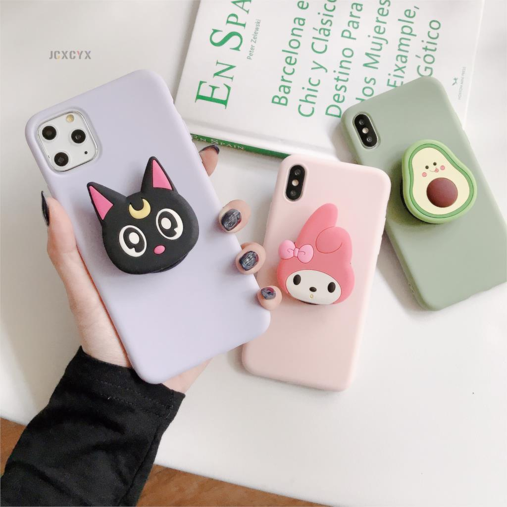 3D Cartoon Melody Soft Phone Case For Iphone X XR XS 11 Pro Max 6 7 8 Plus Holder Cover For Samsung S8 S9 S10 A50 Note 10 9 Capa