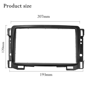 Image 3 - Top Quality Double Din Fascia For Chevrolet Sail Radio DVD Stereo Panel Dash Mount Install Trim Kit Refit Frame