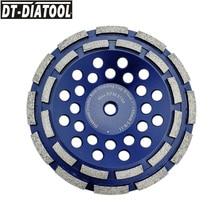 цена на DT-DIATOOL 1pc 5/8-11 Thread Dia 180mm/7inch Double Row Diamond Grinding Cup Wheel For Concrete Brick Hard Stone Granite Marble