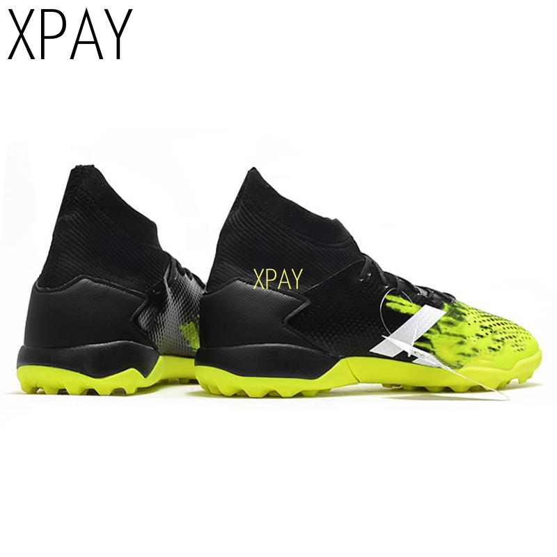 Breathable Professional Unisex Soccer Shoes Long Spikes TF Ankle Football Boots Outdoor Grass Cleats Football Shoes
