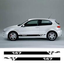 Für Alfa Romeo 147 V6 I4 3,2 GTA Facelift Auto Zubehör 2PCS Auto Tür Seite Aufkleber Vinyl Film Streifen dekoration Aufkleber