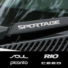 Car Window Wiper Stickers For Kia Sportage 3 4 QL Rio 3 4 K2 Optima Sorento Picanto Ceed Forte Cadenza K9 Soul Accessories