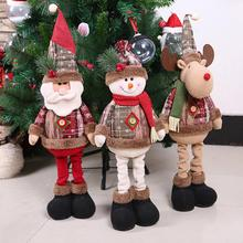 New 2019 Merry Christmas Ornaments Christmas Gift Santa Claus Snowman Tree Toy Doll Hang Decorations For Home Enfeites De Natal рождественские украшения christmas stocking 7 enfeites