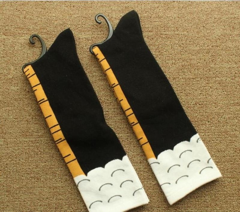3 Colors Creative Couples Chicken Stovepipe Long Socks Exaggerated Creative Design Funny Gifts For Women Cute Lovely