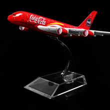 1 400 Scale 16cm 14cm COLA Airlines Airbus A380 Metal Airplane Aircraft Model Decoration Plane Kids