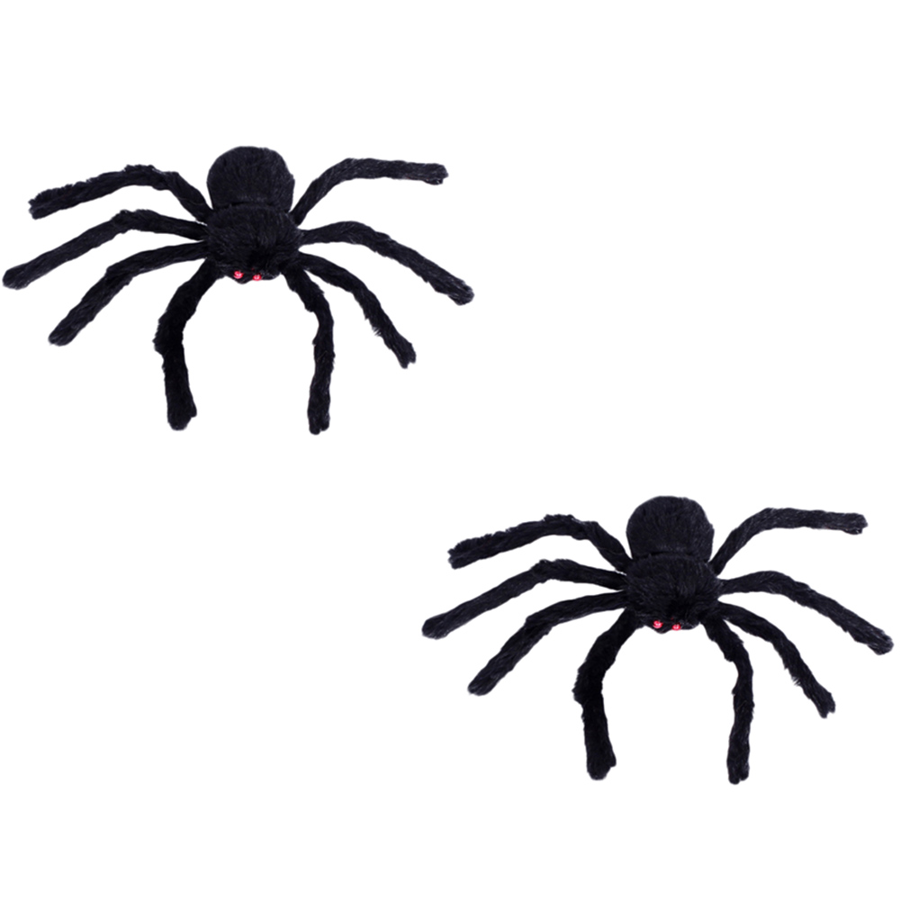Thrilling 30/75cm Large Size Plush Spider Halloween Creative Toy Props