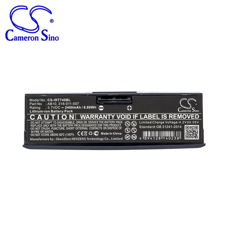 Bateria de cameron sino 2400mah para o varredor de código de barras intermec 700 mono, 730 cores, 318-011-007, ab10