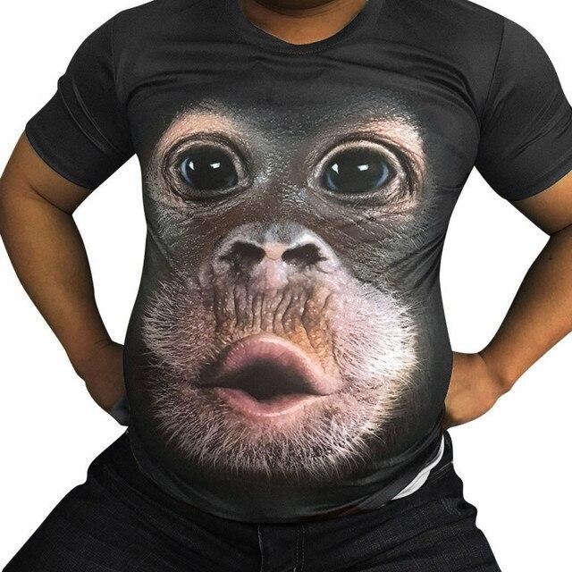 3D Print - Funny Monkey T-Shirt 1