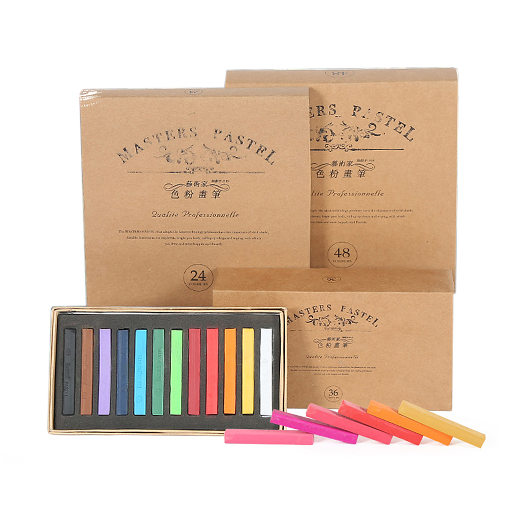 12/24/36/48 Colors/Set Students Painting Crayons Soft Pastel Art Drawing Set Chalk Color Crayon Brush Stationery For Students