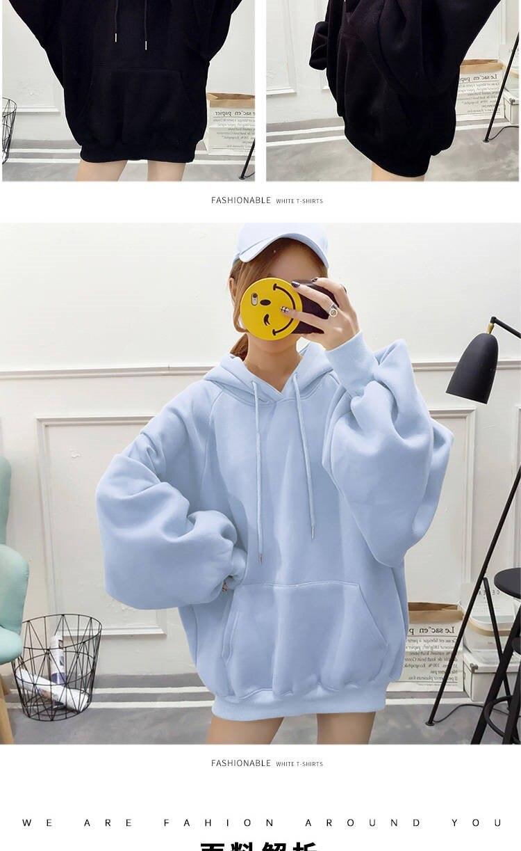 Lazer Oversize Pullovers Estilo Coreano Quente Kawaii