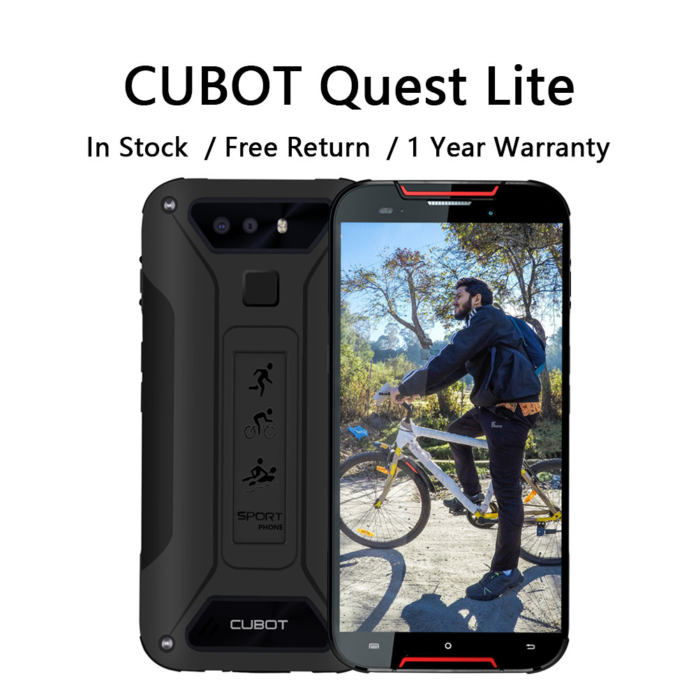 Cubot Quest Lite ip68 wodoodporny smartfon 4G podwójna karta SIM 5 Cal 8.8mm najcieńsza odporna na zarysowania odporna na wstrząsy wytrzymałe telefony
